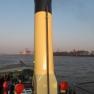 Wir verlassen den Hamburger Hafen in Richtung Westen.