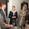 Vanessa Moser vom Atlantic Hotel beantwortet bereitwillig alle Fragen der Gäste.