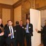 Zwischen Senatszimmer und Präsidentensuite wird der Abend von den Gästen gern für Networking und Kontaktpflege genutzt.
