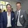 Dr. Florian Fuhrmann (rechts) stellt die innovative Arztnetzsoftware CGM NET vor.