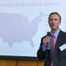 Chris Eckerle, Director of Life Sciences Indiana Economic Development Corporation bei seinem Vortrag: Building Bridges and Entering the US Market in the Area of Medical Devices and Life Science.