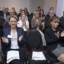 Im Publikum befinden sich Professionals aus allen Sektoren des Gesundheitswesens.