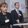 Alexander Maier und Dr. Sabrina Schmitt vom Pathologischen Institut des Universitätsklinikums Heidelberg referieren über die BioMaterialBank Heidelberg.