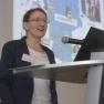 """Prof. Dr. Dagmar Krefting von der HTW Berlin präsentiert das Projekt """"SomnoNetz""""."""