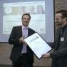 """Am meisten Stimmen aus dem Publikum - und damit den """"Publikumspreis"""" erhalten hat: Dr. Carsten Jäger von der Ärztenetz Südbrandenburg Consult GmbH"""