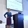 Sophia Schlette (Stiftung Gesundheit), Moderatorin beim Innovationskonvent 2015, begrüßt die Gäste und Vortragenden.