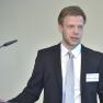 Der erste Vortrag: Christian Tapking, Doktorand am Universitätsklinikum Heidelberg, referiert über die Auswirkung von bariatrischen Operationen auf die Funktion und Morphologie der Leber.