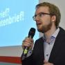 """Ansgar Jonietz berichtet über die Entwicklung des Projektes """"Was hab ich?"""", das 2013 mit dem Publikumspreis ausgezeichnet wurde und in diesem Jahr den Nachhaltigkeitspreis erhält."""