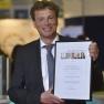 Der Gewinner: Dr. Alexander Wolff von Gudenberg überzeugte die Jury mit der Teletherapie Stottern – Onlinebasierte Intensiv-Stottertherapie.
