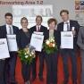 Die Preisträger des Medizin-Management-Preises 2015 mit Laudator Prof. Dr. Arno Elmer (ganz rechts).