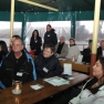 Zum Glück ist das Schiff am Heck überdacht, denn wir starten unsere Tour in einem ordentlichen Wolkenbruch.