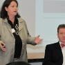 Der zweite Teil des Tages begann mit einer Diskussionsrunde: Dr. med. Barbara Ruß-Thiel, Geschäftsführerin von AHG Assist und Dr. med. Michael Eisenmeier, Facharzt für Allgemeinmedizin berichteten von ihren persönlichen Erfahrungen mit Ärzte-Plattformen.